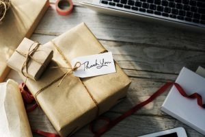 paper wrapped gift